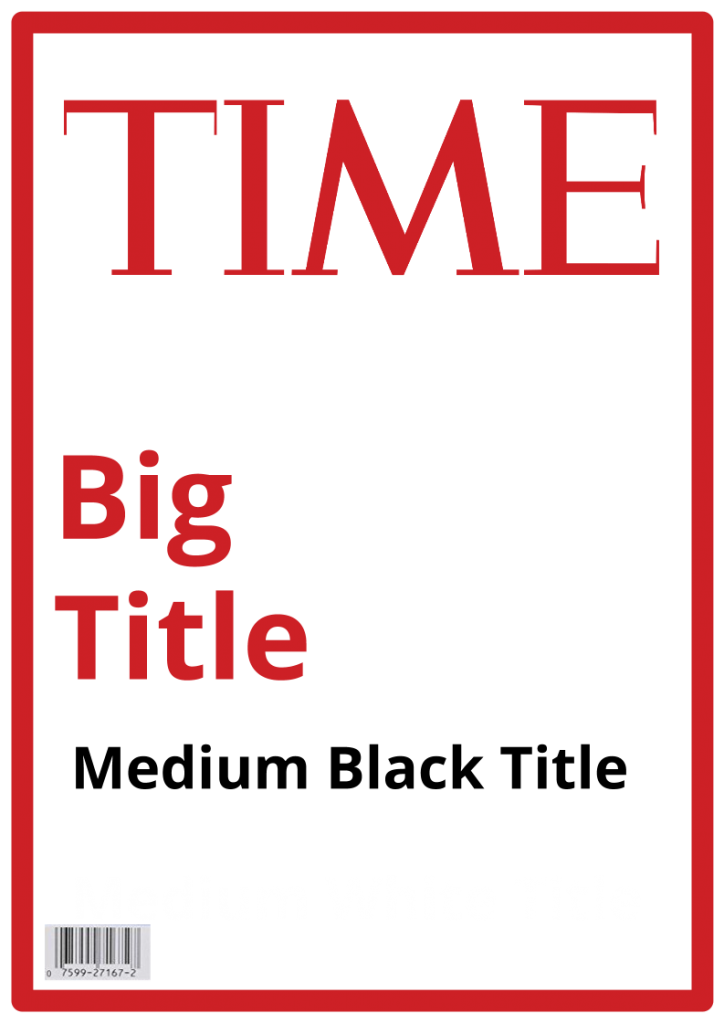 Time Magazine Cover by Steve Katz